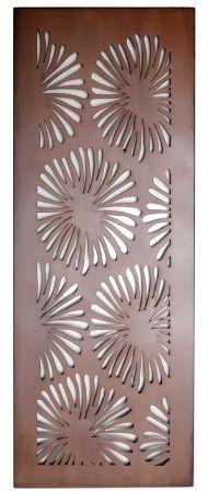 Flower Design Laser Cut Metal Art for Garden Wall from Earth Homewares