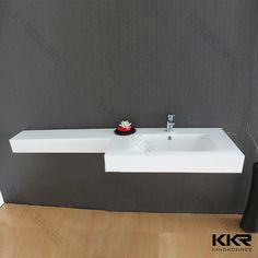 2014 New design one piece bathroom sink and countertop