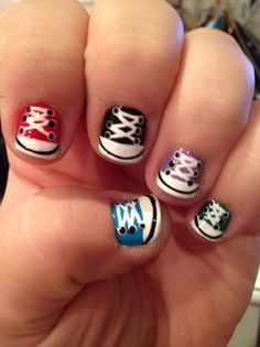 CONVERSE Nails. OMG this page has so many adorable nail ideas!
