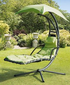 279.99 BY TRANS-CONTINENTAL GROUP Green Helicopter Swing Chair | zulily *** 53W X 72D X 78H
