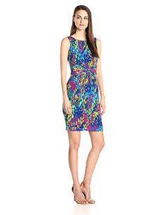 Ellen Tracy Women's Sleeveless Printed Waist Gathered Dress, Blue/Multi, 6 Ellen Tracy http://www.amazon.com/dp/B00SJ4K0OK/ref=cm_sw_r_pi_dp_efwdvb0FFKCV6
