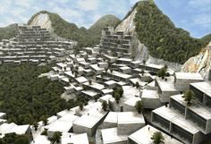 Long Tan Park: Cascades of Box Homes Covering the Mountains of China  by Yuka Yoneda,