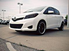 2012 #Toyota #Yaris #white