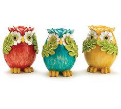 Bring some color into your life with these #burtonandburton Owls! #owls #color