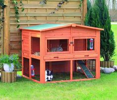 Two-Story Outdoor Hut For Rabbits - The Cutest Pet Gifts – Adorable Holiday Dog Gifts