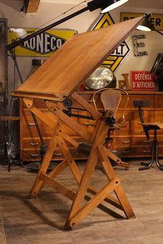 Meuble Industriel Ancienne Table Dessin Deco Loft Meuble Industriel Vintage De Renaud Jaylac