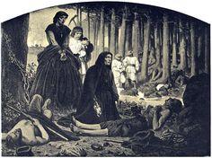 Artur Grottger - Polonia, IX. Na pobojowisku, 1863