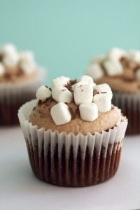 Hot Chocolate Cupcakes Perfect to go with the hot cocoa lots for christmas!!'