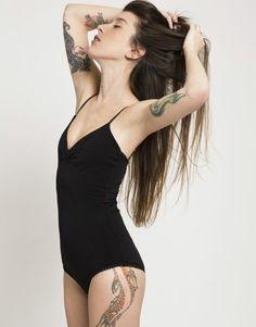black bodysuit  women bodysuit  spandex by UglyDucklingGalAngel