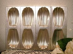 Linen フランスアンティークマドレーヌ型缶トレイカントリー雅姫リネン インテリア 雑貨 家具 Antique ¥2700yen 〆05月28日