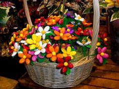 composition florale dragees