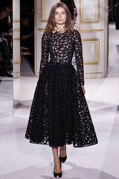 Black 1950s Cut Gown @ Giambattista Valli Spring Summer 2013 #HauteCouture  #Fashion