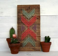 Handmade mini wooden sign with string art. This item is made with the highest quality wood and supplies available and handmade with love. Each item