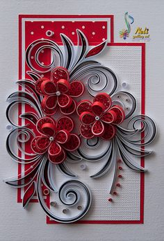 Neli is a talented quilling artist from Bulgaria. Her unique quilling cards bring joy to people around the world. Neli Quilling, Paper Quilling Cards, Paper Quilling Tutorial, Quilling Work, Paper Quilling Patterns, Origami And Quilling, Quilled Paper Art, Quilling Craft, Quilled Roses