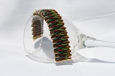 Twisted Beadweaving Cuff Bracelet. $47.00, via Etsy.