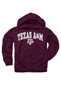 Texas A & M Aggies Youth Maroon Red Arch TA Hooded Sweatshirt Texas Two Step, A&m Football, Hooded Sweatshirts, Hoodies, Texas A&m, Colleges, Country Girls, Shirt Ideas, Arch