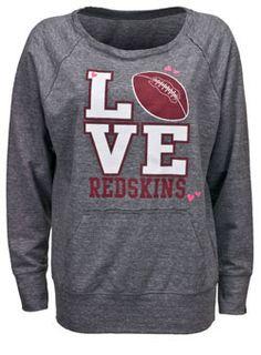 249d97614 LADIES BOAT NECK REDSKINS SWEATSHIRT  49.00 Redskins Shirt