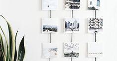 Des photos suspendues - DIY- | Christmas cards, Photo walls and Diy photo