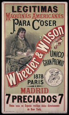 Legítimas máquinas americanas para coser Wheeler ; Wilson. Dibujos, grabados y fotografías — 1878-1878
