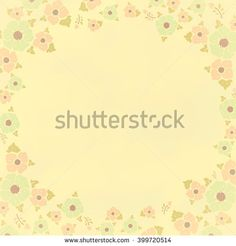 Flowers, creamy vintage background vignette. Gentle flowers at the edges of a background with clouds. The invitation form, a greeting card, the field for the text, a frame with flowers.
