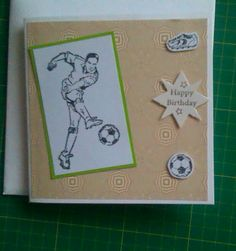 Rubber stamped mens birthday card.