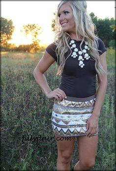 Love sequin skirts!