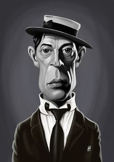 Buster Keaton art   decor   wall art   inspiration   caricatures   home decor   idea   humor   gifts