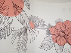 Mural Art, Wall Murals, Chalk Lettering, Wall Drawing, Botanical Drawings, Wall Wallpaper, House Painting, Art Inspo, Decoration