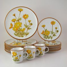 Vintage Dinnerware Set Mikasa Natural Beauty by WoolTrousers, $72.00