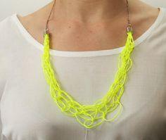DIY Neon Fashion : DIY Fashion: Make A Neon Necklace