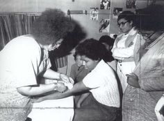 Black Panther Party administers free sickle cell testing in Boston, 1973.  Photo credit: Does anyone know who took this image?