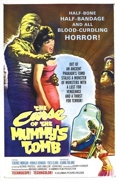 The Curse Of The Mummy's Tomb (1964) Terence Morgan, Ronald Howard, Fred Clark, Jeanne Roland