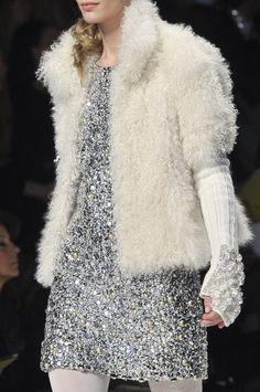 Blugirl jacket, fur and sequins