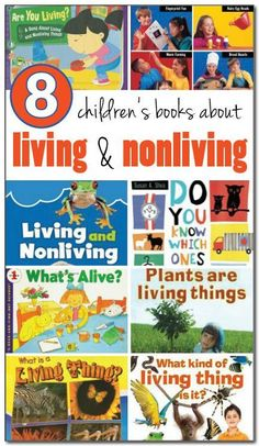 8 books about living and nonliving things for kids #science    Gift of Curiosity