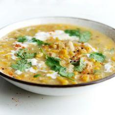 Tempeh & Sweet Corn Soup (via www.foodily.com/r/L7SiKTcZI)