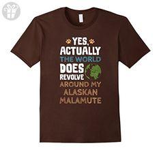 Mens Funny Alaskan Malamute Dog T-Shirt Large Brown - Funny shirts (*Amazon Partner-Link)