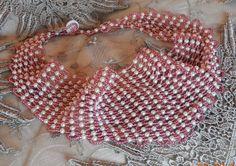 Swarovski Pearls and Pink Beaded Scarf Necklace. $250 Scarf Necklace, Swarovski Pearls, Tote Bag, Beads, Pink, O Beads, Beading, Tote Bags, Pearls