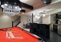 Basement Bar and Pool Table. i like these colors. i want a fun basement wirh bright colors. and this neutral is the right back drop.