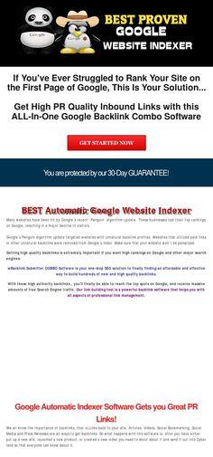 SEO Backlink Software: Google Website Indexer