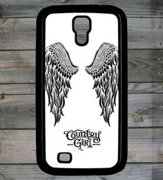 Country Girl ® Black and White Wings Galaxy S4 Phone Case/Cover