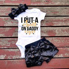 I Put A Spell On Daddy Baby Girl Bodysuit, Baby, Baby Girl, Girls, Toddler…
