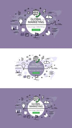 Global Marketing hero banners. Web Elements. $5.00