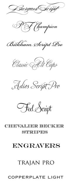 CT-Designs Calligraphy and Wedding Stationery: Top wedding fonts of 2010