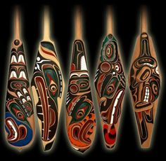 Pacific Northwest Indian Art | Carved from red cedar with acrylic paint and varathane - all Canadian ...