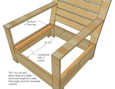 Medium size of diy deck furniture plans free pallet couch white outdoor lounge chair projects architectures Diy Furniture Chair, Outdoor Furniture Plans, Diy Chair, Pallet Furniture, Furniture Design, Diy Sofa, Garden Furniture, Chair Design, Ana White