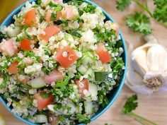This quinoa tabbouleh has all the familiar flavors of traditional tabbouleh, but with nutrient rich quinoa instead of bulgar.