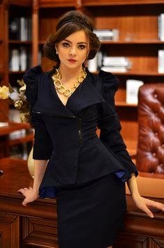 Zoe jacket dark navy от LauraGalic на Etsy