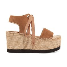 On SALE at 50% OFF! Sandra Suede Espadrille Wedge Sandals - by Paloma Barcelo. Paloma Barceló taupe Sandra sandals . Jute platform measures approximately 95mm/ 4 inches . Suede . Open almond toe ....