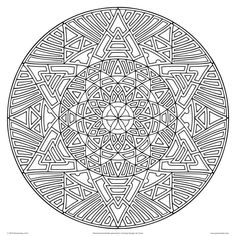 Printable Detailed Mandala Coloring Pages  Dont Eat the Paste