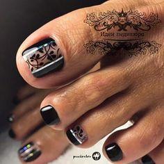 Foxy Toe Nail Arts to Copy - Ani Exclusive Toenail Art Designs, Pedicure Designs, Pedicure Nail Art, Nail Polish Designs, Gel Polish, Polygel Nails, Feet Nails, Diy Nails, Feet Nail Design